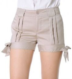 Shorts altos de cintura formales 4