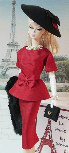 I want barbies wardrobe Weekend in Paris  via donna's doll designs
