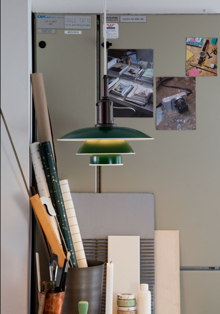 PH 3½-3 Pendant, Green, Poul Henningsen, Louis Poulsen