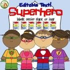 Superhero Center Labels or Tags With Editable Text make it easy to customize titles for centers, supplies, cubbies, or whatever you need. Simply op...