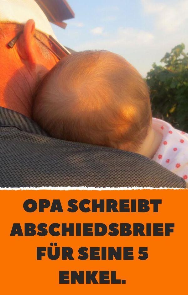 Opa schreibt Abschiedsbrief für seine 5 Enkel. – Kitty