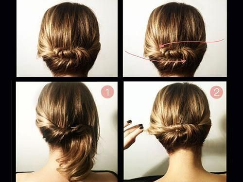 Do it yourself hairstyles (26 photos) Not very clear instructions, but some good ideas.