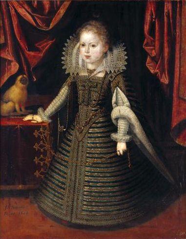 Infanta Anna, 1604, by Juan Pantoja de la Cruz