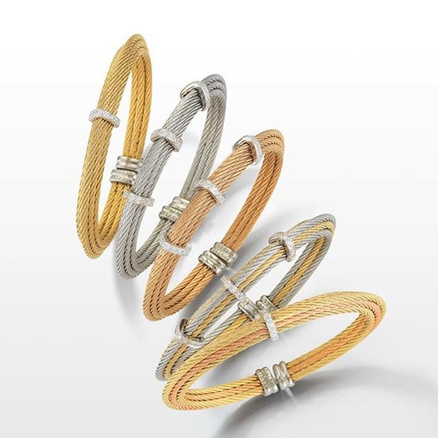 Dimensional bangles #handcrafted #finejewelry #bangles #alorsince1979