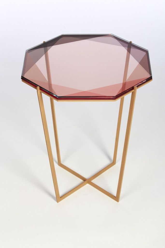 "geometric coffee table | ""Gem"", designed by Debra Folz, is inspired by the reflections of light and transparencies found in gemstones."