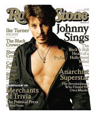 Johnny Depp on Rolling Stones