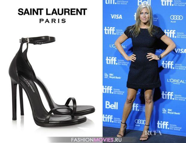 """на Дженифер Энистон босоножки Saint Laurent модель """"Jane"""""""