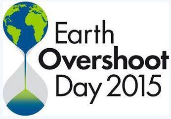Oggi, 13 agosto, è l'Earth Overshoot Day, ovvero il giorno in cui finiamo di consumare tutte le risorse che la Terra produce in modo sostenibile in un intero anno, cioè gli interessi sul capitale naturale.  Nel 2015 questo giorno arriva una settimana prima rispetto al 2014: in altre parole abbiamo consumato ancora più voracemente le risorse che la Terra ci mette a disposizione.  E da domani, 14 agosto, iniziamo a consumare il capitale, indebitandoci con il pianeta....
