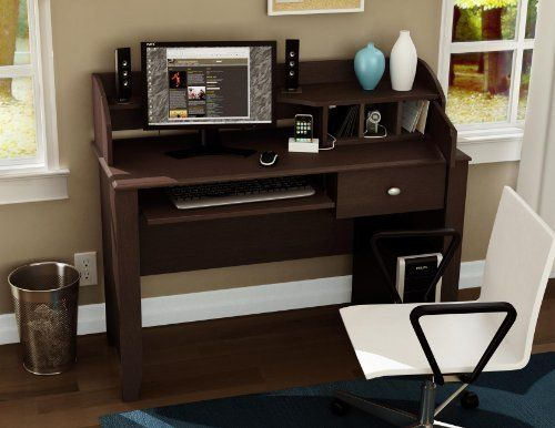 Secretary Desk by South Shore. $298.04. Made in Canada. Manufactured from laminated particle board. Transitional style. Shrink-wrapped packaging with reinforced corners to reduce the risk of shipping damage. Charging station. The Compact-Fit Desk adds elegance and functionality to your office space, helping you infuse your work area with comfort and efficiency. Its unique charging station lets you connect a variety of items, from an MP3 player to a digital camera or even a p...