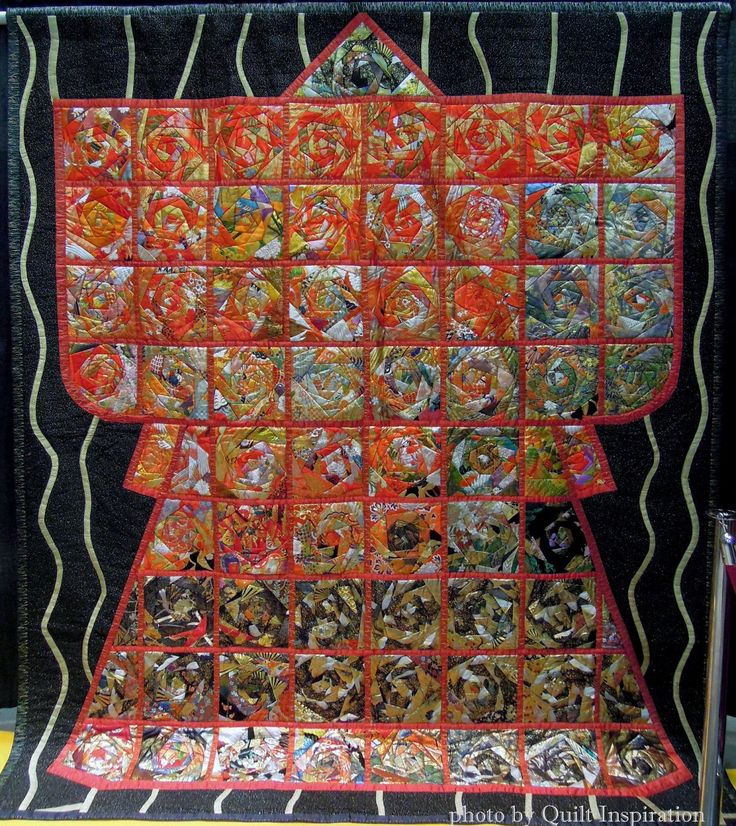 "Quiltfest.com Miyabi, 105 x 88"",  by Matsuko Shiraishi, Japan  Quilt Inspiration: Best of the 2015 World Quilt Show in Florida (part 1) #quiltfest"