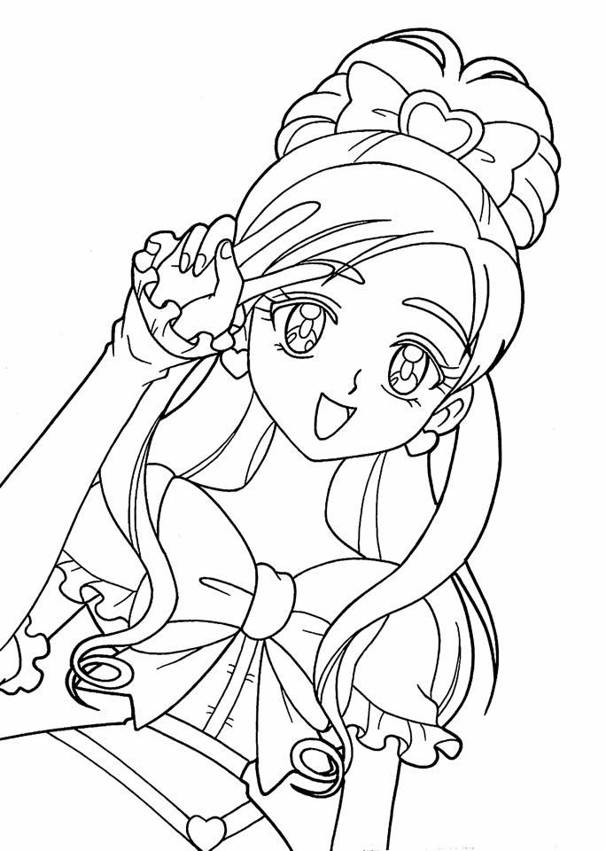 Anime Princess Coloring Page People Coloring Pages Coloring Pages For Girls Cartoon Coloring Pages