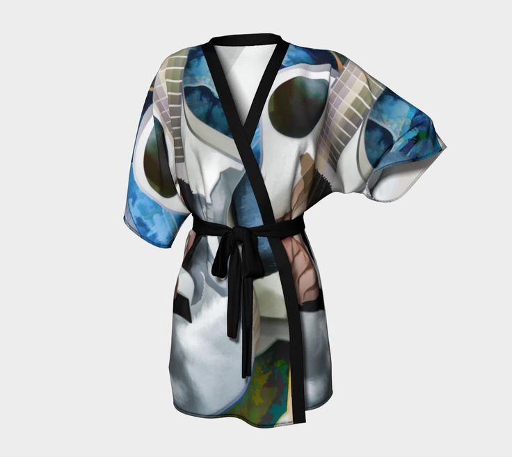 "Kimono+Robe+""Howling+Wolf""+by+Judy+E+Huck"