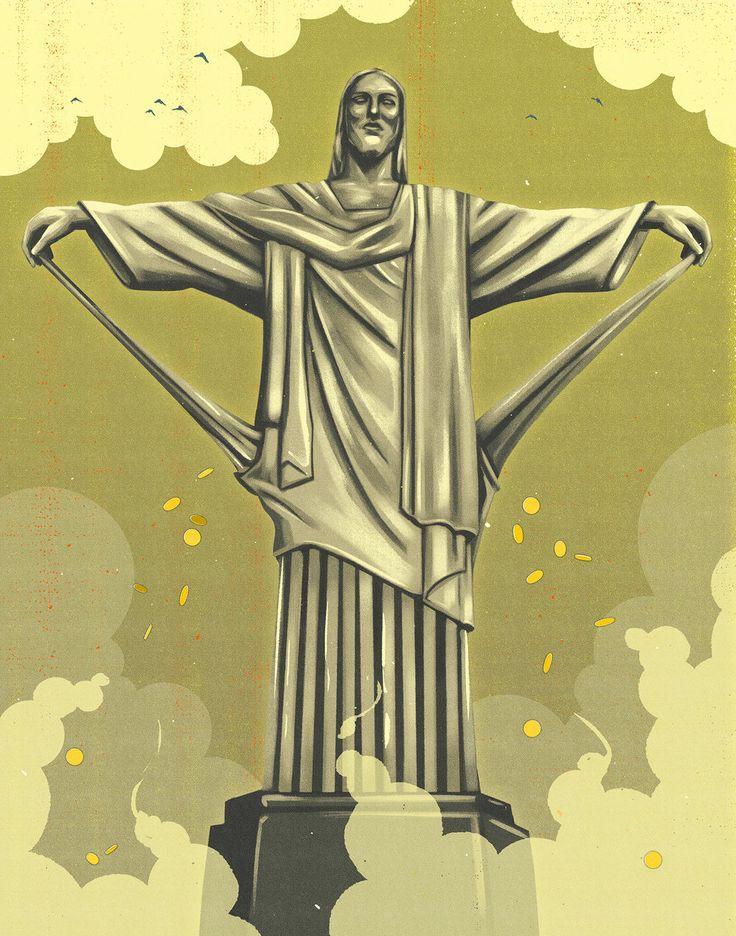 Economic Downturn in Brazil for Capital Magazine. Illustration by Daniel Downey.