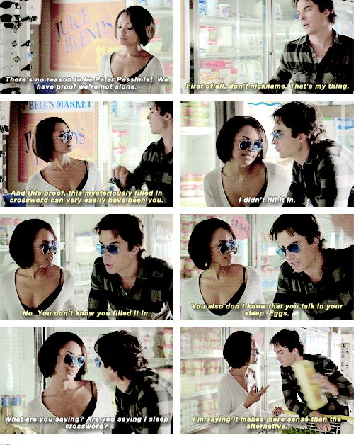 Bamon! It makes me laugh to just read the words instead of watch it because it looks like he is calling her eggs or something. Also the house is huge how does he know she talks in her sleep???