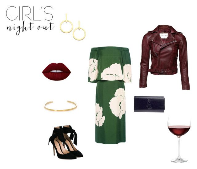 """wine"" by margie-g on Polyvore featuring moda, TIBI, Gianvito Rossi, Lime Crime, Yves Saint Laurent, Vita Fede i Nordstrom"