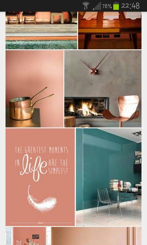 Copper blush flexa verfkleur 2015 mooie match met petrol en roze..