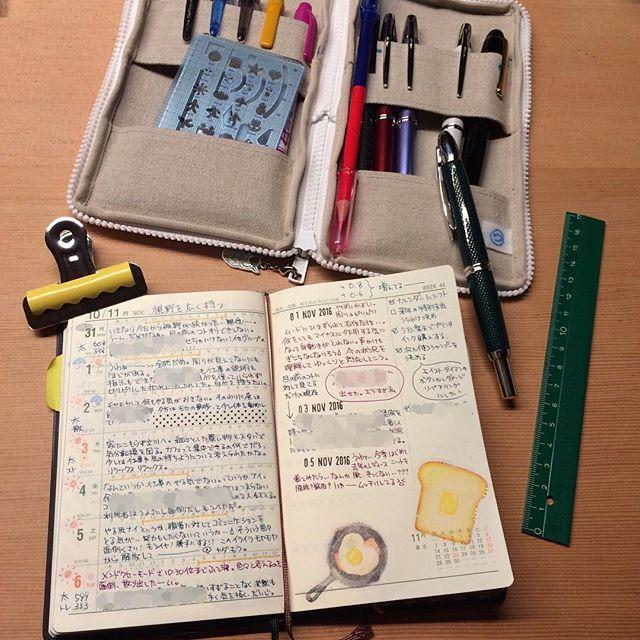 ----------- ・ しんどい時や疲れている時はたくさん書くのは辛いけど、能率手帳ならコンパクトにまとめられてストレスがない。 ノーストレス。 素晴らしい(笑) ・ #能率手帳 #日記 #万年筆 #ライフログ #手帳 #NOLTY #つくしペンケース