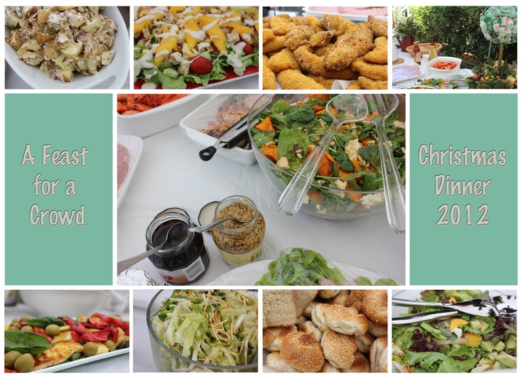 A selection of the food we had for Christmas 2012