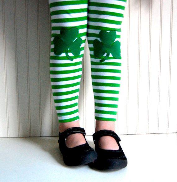 Leggings Irish Shamrock Girls Sizes 1218 mos 2 / by thetrendytot