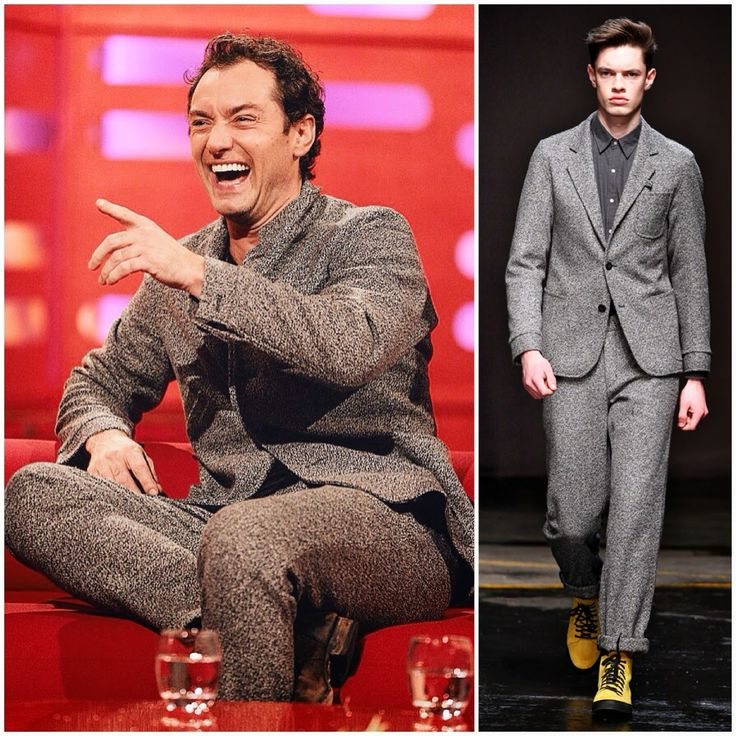 Jude Law in Oliver Spencer - The Graham Norton Show http://www.whats-he-wearing.com/2014/12/jude-law-in-oliver-spencer-suit-graham-norton-show.html?spref=tw