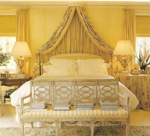 Gorgeous and peaceful yellow on yellow a bedroom done in for Peaceful master bedroom designs