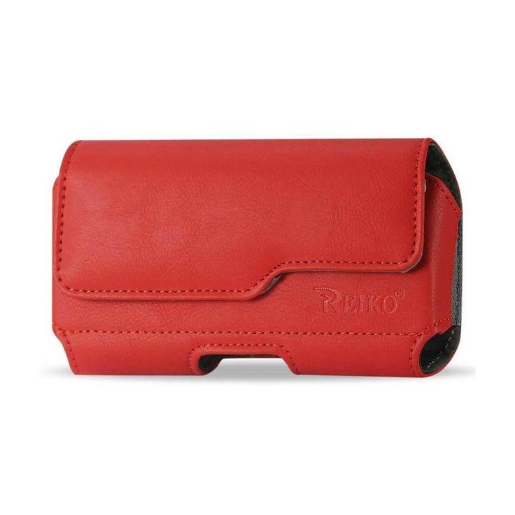 Reiko Horizontal Z Lid Leather Pouch Samsung Galaxy S3/ I9300/ R53 X Plus Red
