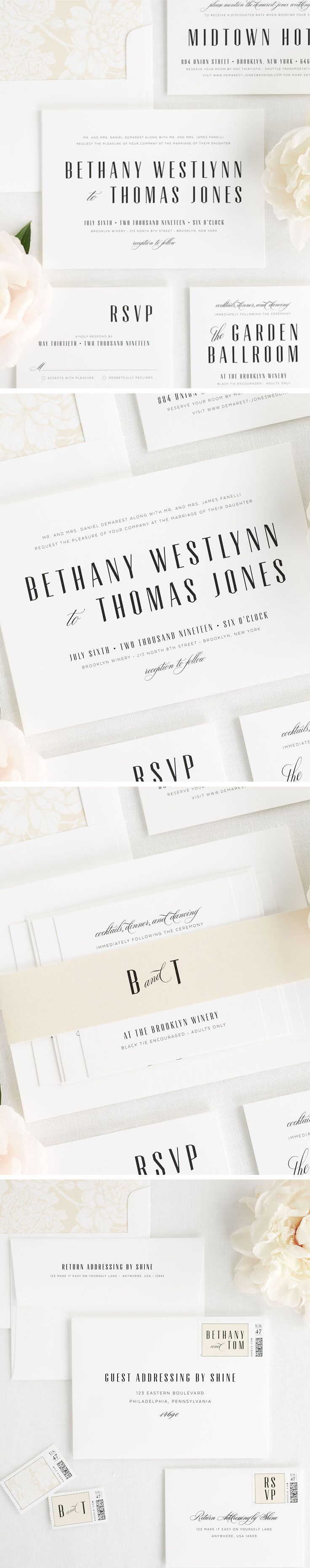 311 best Wedding Stationery images on Pinterest | 15 years, Bling ...