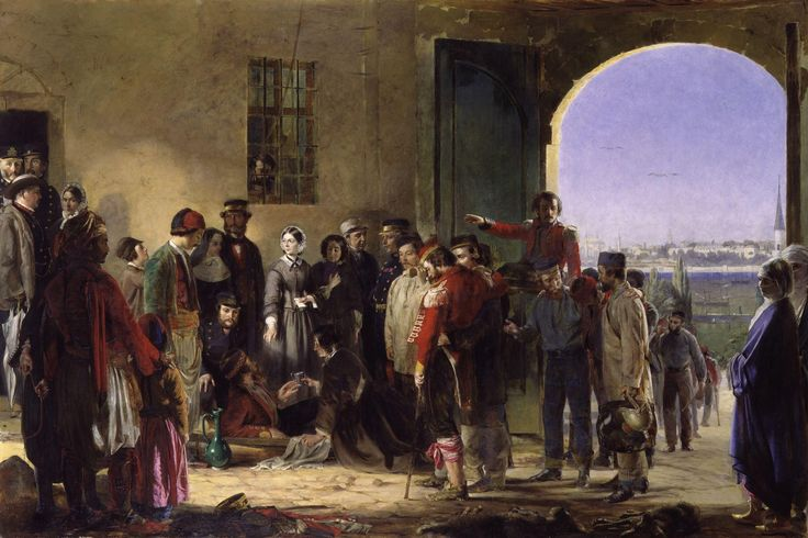 Nightingale receiving the Wounded at Scutari by Jerry Barrett