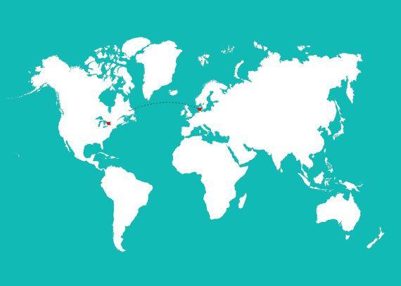 Denmark On Map Of World.Love World Map Denmark Map Framed World Map World Map Wall