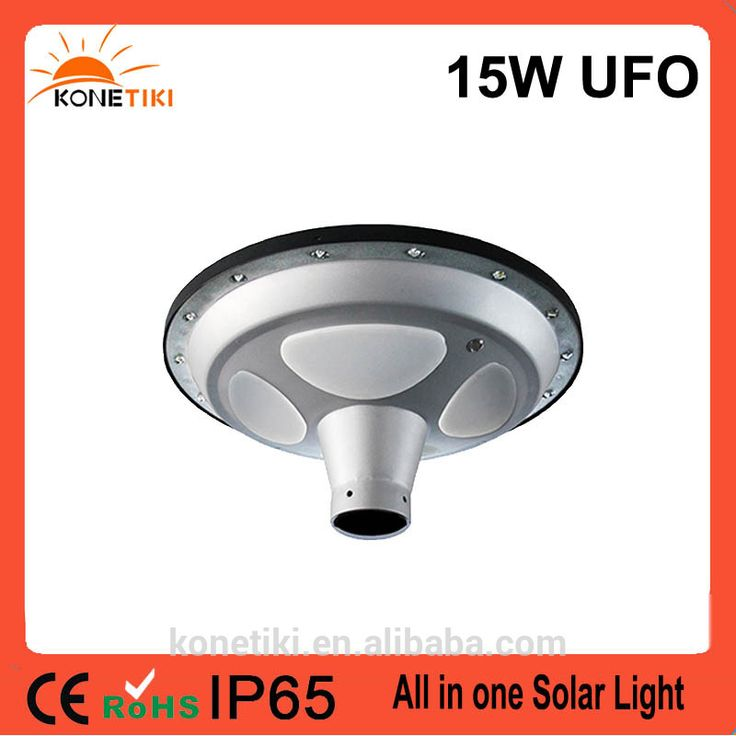 Unique UFO Style LED Light Source All in One Solar Motion Light