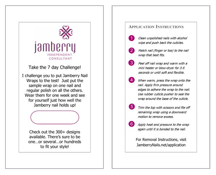 198 best jamberry images on pinterest jamberry consultant send the 7 day challenge cards to new customers and get them hooked on jamberry reheart Images