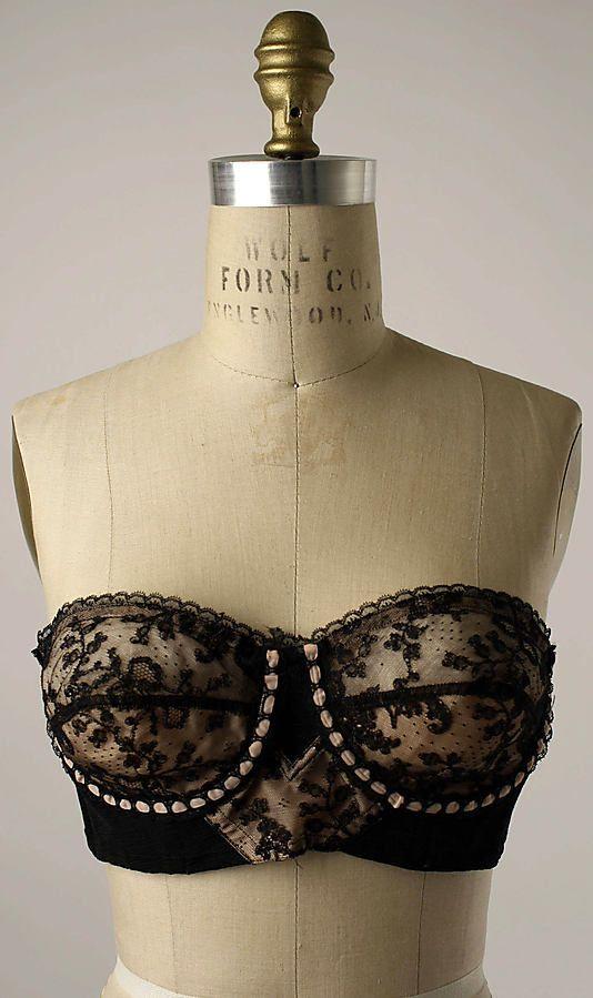Cadolle brassiere, Met Museum, 1950s: Met Museums, Fashion Ideas, 1950S Art, Fashion Design, Cadol Brassiere, 1950S Brassiere, Metropolitan Museums, Retro Vintage, Vintage Style
