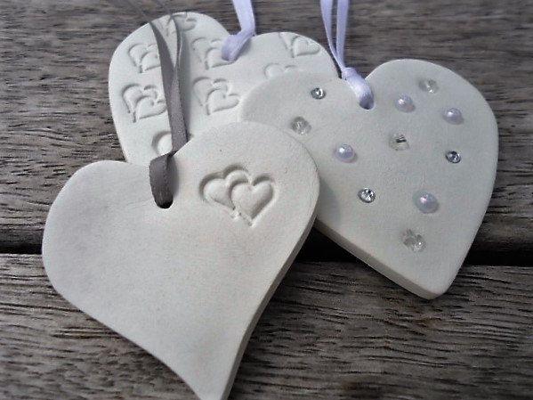 3 Clay Heart Ornament by MYMIMISTAR on Etsy