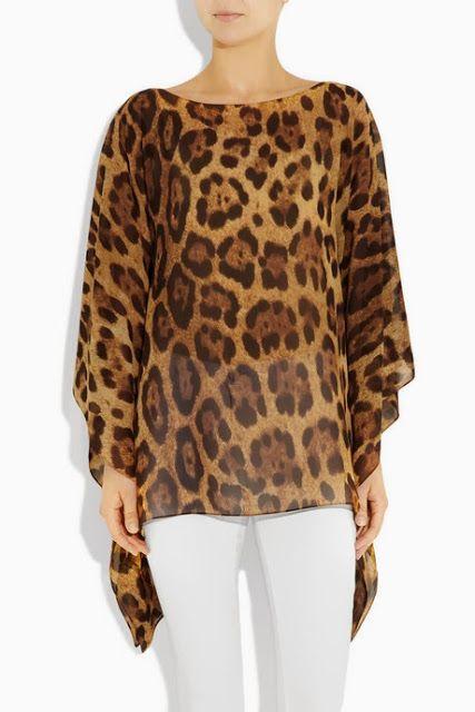Plantillas de moda para Medida: TONO EN leopardo imprimió TUNIC