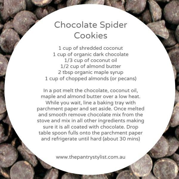 Chocolate spider cookies!  #paleo #kids #healthy #recipe