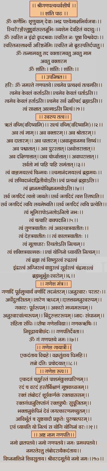 All About Shri Ganapati Atharvashirsha In Marathi Meaning And