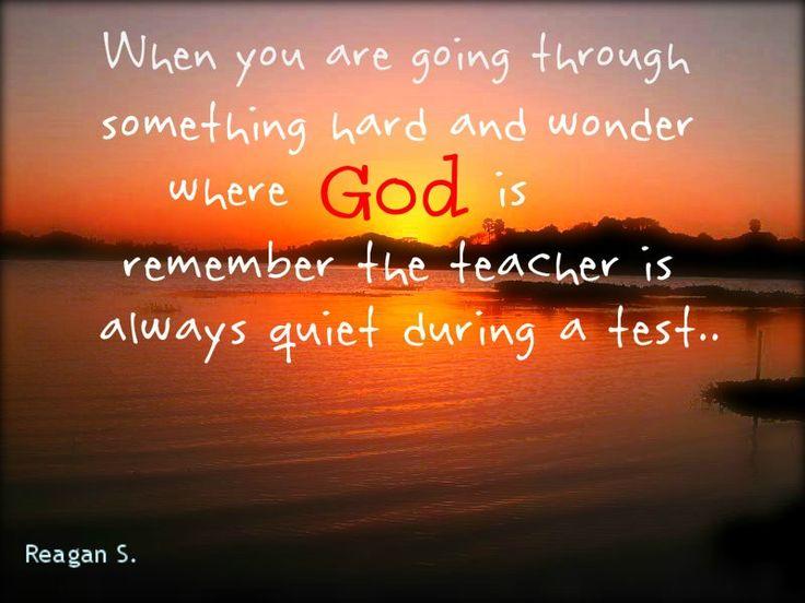 Trust God..