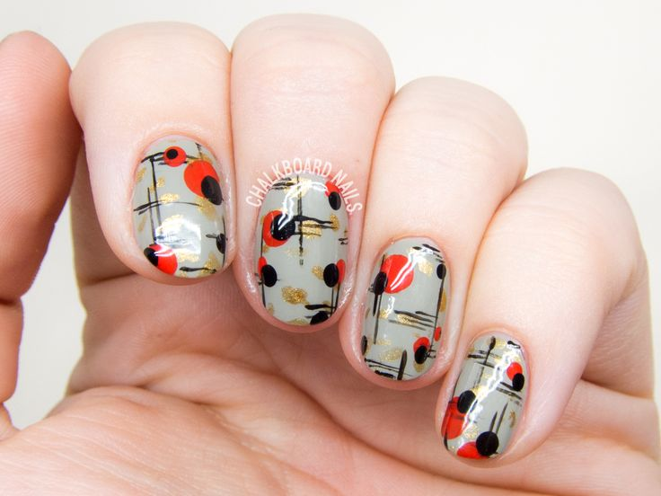 Best 25 modern nails ideas on pinterest white nail art simple mid century modern nail art prinsesfo Choice Image