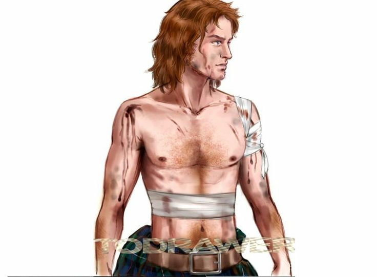 Jamie Fraser from Diana Gabaldon's novel Outlander. Illustration by Alex Oliver