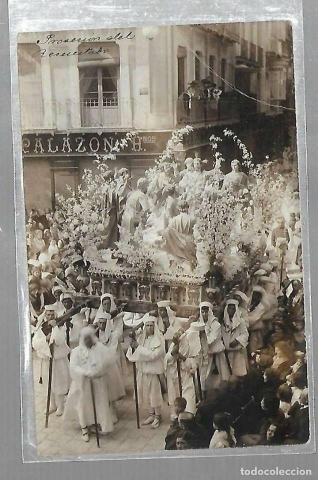 Semana Santa Murcia . Procesion del Resucitado 1913 plaza Esteve Mora