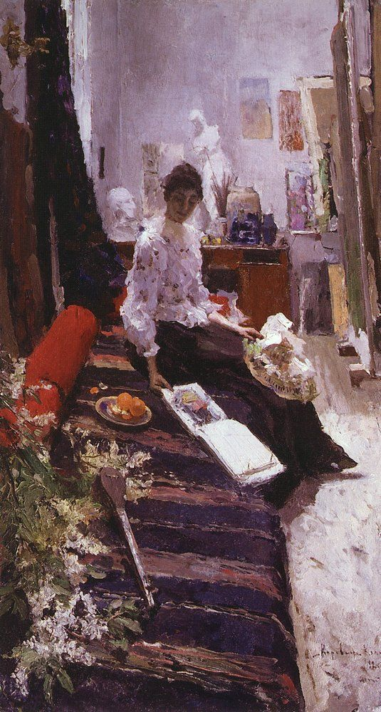 "Константин Коровин ""В мастерской художника"". 1892//Konstantin Korovin ""Artist's studio"", 1892"