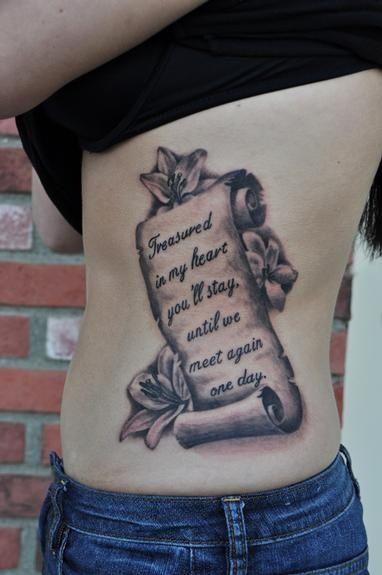 girly scroll tattoo