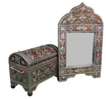 Handmade Moroccan Mirror & Chest - eclectic - Storage Boxes - New York - Second Shout Out