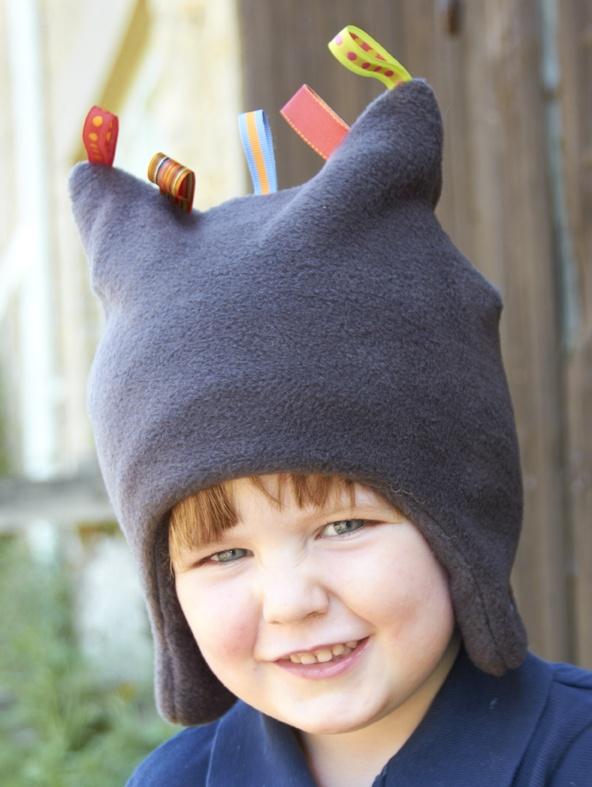 Charcoal Fleece Toggle Hat
