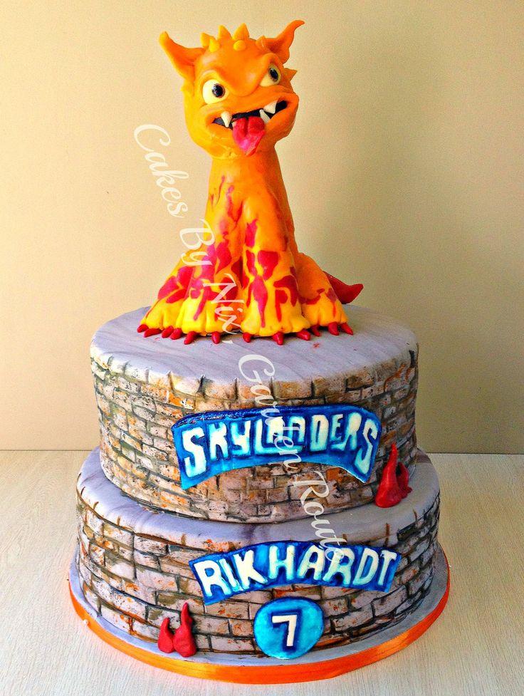 2 tier Skylander cake