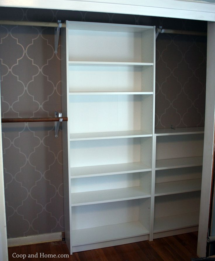 IKEA Billy bookcase custom closet hack