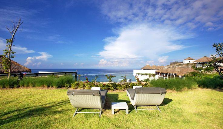 sun lounge on villa