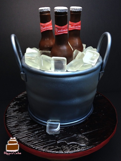 Beer Bucket - Cake tasted like Rum!!! It was our Signature vanilla Rum cake!! And yes, the ice cubes were edible!!!!!