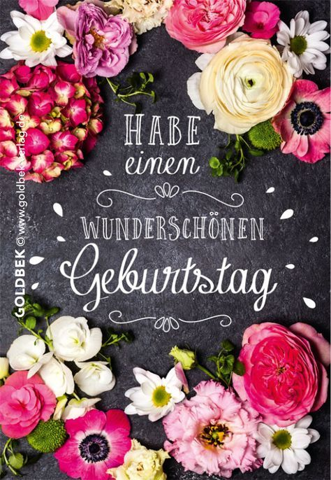 Postkarten - Geburtstag. Schönes, modernes Blumenmotiv.