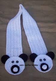 Resultado de imagen para bufandas de animalitos  para niños